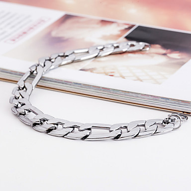 Men's Stainless Steel Others ID Bracelet - Unique Design Fashion Silver Bracelet For Christmas Gifts Party