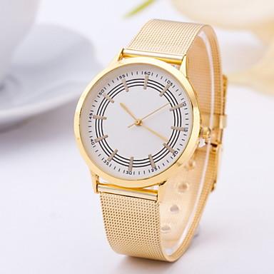 여성용 패션 시계 캐쥬얼 시계 석영 합금 밴드 노란색