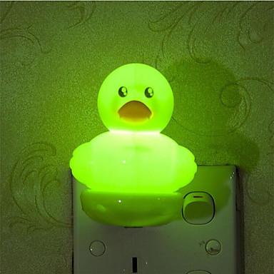 아기 수면 야간 조명 (모듬 된 색상)에 관한 창조적 인 온난 한 백색 광 센서 오리