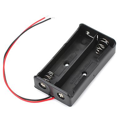 리드 7.4V 2 × 18650 배터리 홀더 케이스 상자