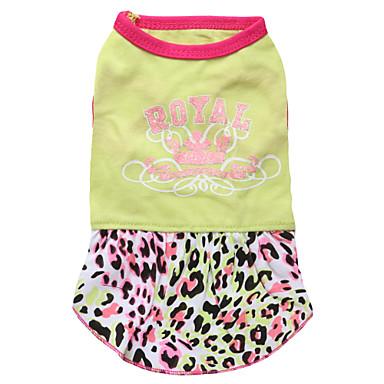 고양이 / 개 드레스 그린 강아지 의류 여름 / 모든계절/가을 티아라 & 왕관 패션
