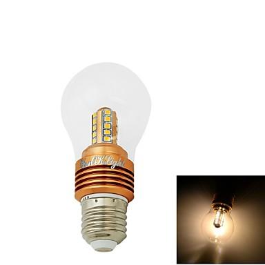 5W E26/E27 LED 글로브 전구 CA35 25 SMD 2835 400 lm 따뜻한 화이트 장식 AC 85-265 / AC 220-240 / AC 110-130 V 1개
