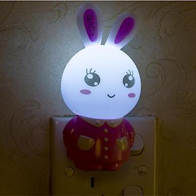 아기 수면 야간 조명에 관한 창조적 따뜻한 흰 토끼 광 센서