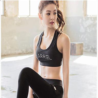 스포츠 브라 탱크 탑 탑스 여성의 통기성 높은 호흡 능력(>15.001g) 압축 스트레치 용 요가 운동&피트니스 레저 스포츠 달리기