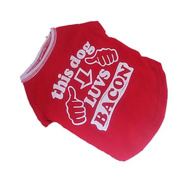 Cachorro Camiseta Roupas para Cães Carta e Número Vermelho/Branco Algodão Ocasiões Especiais Para animais de estimação Homens Mulheres