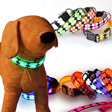 고양이 강아지 목걸이 강아지 의류 LED 패션 솔리드 레드 그린 블루 핑크 랜덤 색상 코스츔 애완 동물