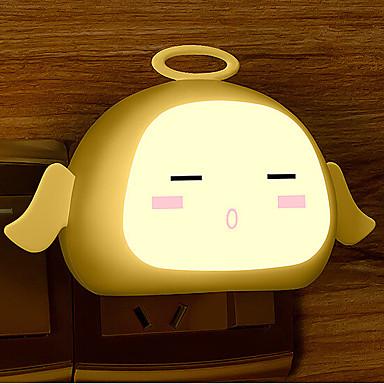 kreatív meleg fehér angyal fényérzékelő kapcsolatos baba alvás éjszakai fény (vegyes szín)