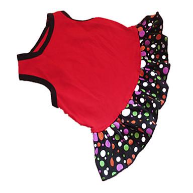 Cachorro Vestidos Roupas para Cães Poá Coração Preto/Vermelho Algodão Ocasiões Especiais Para animais de estimação Mulheres Fashion