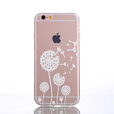 Case Kompatibilitás Apple iPhone 6 iPhone 6 Plus Átlátszó Minta Fekete tok Pitypang Puha TPU mert iPhone 6s Plus iPhone 6s iPhone 6 Plus