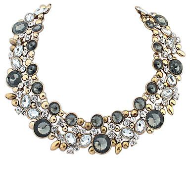 Női Vintage Európai Rövid nyakláncok Gallér Nyilatkozat nyakláncok Szintetikus drágakövek Akril Ötvözet Rövid nyakláncok Gallér