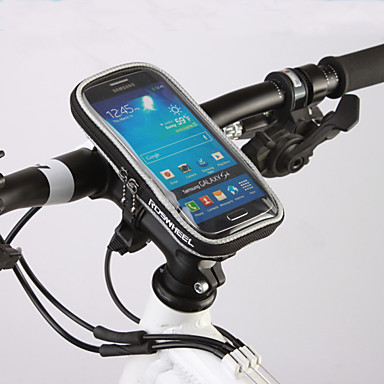 ROSWHEEL 자전거 핸들바 백 휴대 전화 가방 4.8 인치 수분 방지 방수 지퍼 착용 가능한 터치 스크린 충격방지 싸이클링 용 Samsung Galaxy S6 아이폰 5C iPhone 4/4S iPhone 8/7/6S/6 Samsung