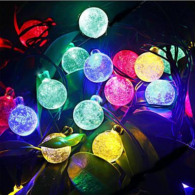 6m Fényfüzérek 30 LED DIP Led Meleg fehér / RGB / Fehér Újratölthető / Vízálló 100-240 V / IP44