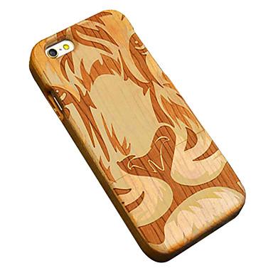 용 아이폰5케이스 케이스 커버 패턴 엠보싱 텍스쳐 뒷면 커버 케이스 동물 하드 나무 용 Apple iPhone SE/5s iPhone 5