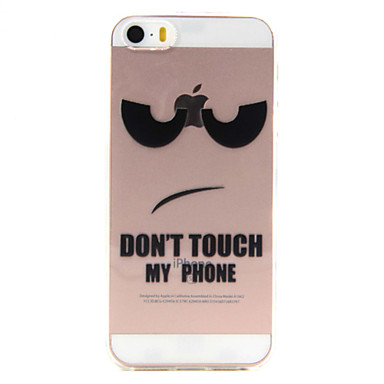 케이스 제품 iPhone SE/5s/5 Apple 아이폰5케이스 투명 뒷면 커버 단어 / 문구 소프트 TPU 용 iPhone SE/5s iPhone 5