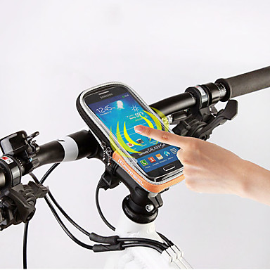 ROSWHEEL 자전거 핸들바 백 휴대 전화 가방 5.5 인치 수분 방지 방수 지퍼 착용 가능한 터치 스크린 충격방지 싸이클링 용 Samsung Galaxy S6 아이폰 5C iPhone 4/4S LG G3 iPhone X iPhone