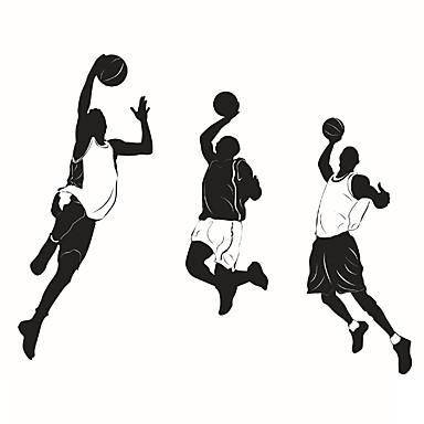 카툰 / 로맨스 / 초크보드 / 패션 / 휴일 / 풍경 / 모양 / 사람들 / 추상 / 판타지 / 스포츠 벽 스티커 플레인 월스티커,PVC 58cm x 55cm ( 23in x 22in )