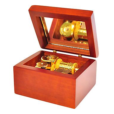 선물을위한 나무 갈색 창조적 인 낭만적 인 음악 상자