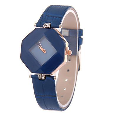 Mulheres Relógio de Pulso Relógio Casual Couro Banda Amuleto / Fashion Preta / Branco / Vermelho / Um ano / Tianqiu 377