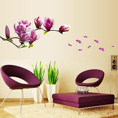 정물 패션 꽃 보타니칼 Leisure 벽 스티커 플레인 월스티커 데코레이티브 월 스티커 웨딩 스티커, PVC 홈 장식 벽 데칼 벽
