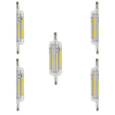 4W 350-400 lm R7S LED 콘 조명 T 60 LED가 SMD 2835 방수 장식 따뜻한 화이트 차가운 화이트 AC 220-240V