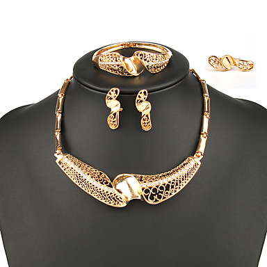 Női Ékszer szett tartalmaz Gyűrűk Naušnice Nyakláncok Karkötő - Nyilatkozat Divat Állítható Ötvözet Ékszer készlet Nyaklánc / Ring