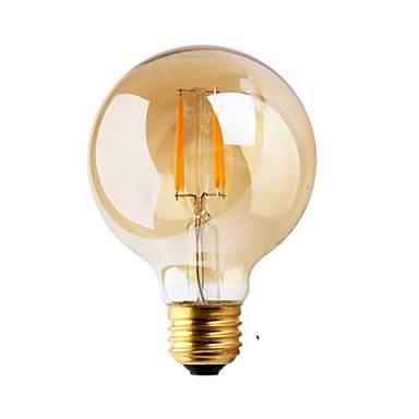 1 개 ≥180 lm E26/E27 LED필라멘트 전구 G80 2 LED가 COB 장식 따뜻한 화이트 AC 220-240V