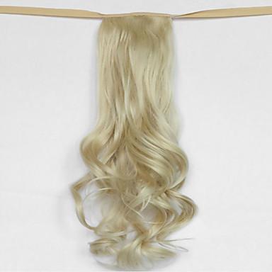 hullám bézs szőke szintetikus kötszer típusát haj paróka lófarok (szín 613)