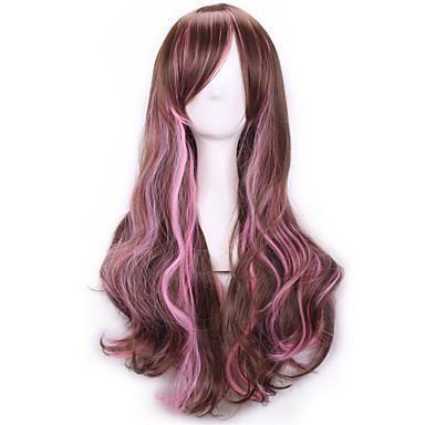 Harajuku κτυπήματα περούκα femme anime ombre φθηνά περούκες cosplay φυσικά προϊόντα σεξ περούκες καφέ ροζ ουράνιο τόξο περούκες συνθετικά