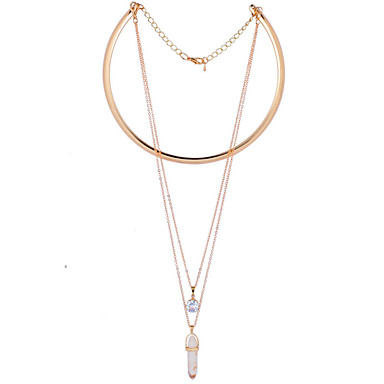 lgsp 여성 합금 necklacedaily 입방 지르코니아 - 61161054 우아한 스타일