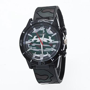 Męskie Sportowy Do sukni/garnituru Modny Zegarek na nadgarstek Chiński Kwarcowy Silikon Pasmo Z Wisorkami Na co dzień Kreatywne