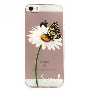 케이스 제품 iPhone SE/5s/5 Apple 아이폰5케이스 투명 패턴 뒷면 커버 버터플라이 소프트 TPU 용 iPhone SE/5s iPhone 5