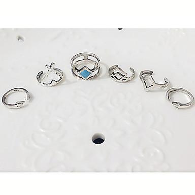 Gyűrűk Divat Parti / Napi / Hétköznapi Ékszerek Női Midi gyűrűk 1set,Állítható Ezüst