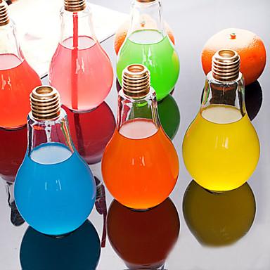 criativa garrafa de água bulbo de vidro copo de suco portátil