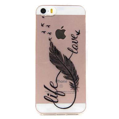케이스 제품 iPhone 7 Plus iPhone 7 iPhone SE/5s/5 iPhone 5 Apple 아이폰5케이스 투명 패턴 뒷면 커버 깃털 소프트 TPU 용 iPhone 7 Plus iPhone 7 iPhone SE / 5 / 5