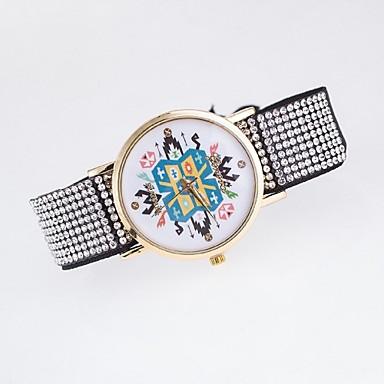 아가씨들 패션 시계 모조 다이아몬드 시계 캐쥬얼 시계 석영 섬유 밴드 멀티컬러