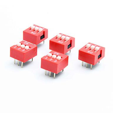 DIY 3 극이 위치 6 핀 DIP 스위치 (5 개 팩)