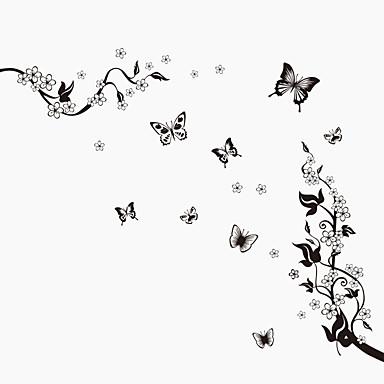 애니멀 보태니컬 정물화 패션 플로럴 빈티지 레져 벽 스티커 플레인 월스티커 데코레이티브 월 스티커 자료 이동가능 홈 장식 벽 데칼