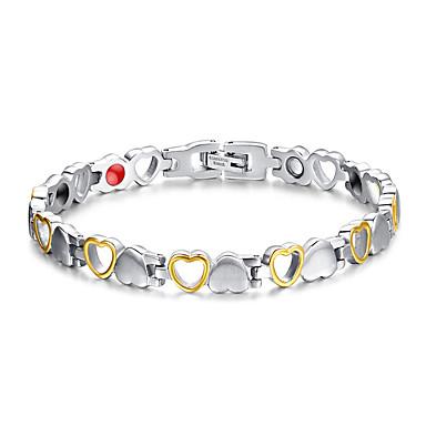 Női Lánc & láncszem karkötők Mágnes-terápia Divat Titanium Acél Ékszerek Kompatibilitás Napi Hétköznapi Karácsonyi ajándékok
