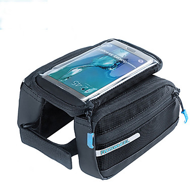 ROSWHEEL 자전거 프레임 백 휴대 전화 가방 5.5 인치 방수 지퍼 착용 가능한 방습 충격방지 터치 스크린 싸이클링 용 Iphone 8 Plus / 7 Plus / 6S Plus / 6 Plus 아이폰 엑스