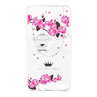 용 삼성 갤럭시 케이스 패턴 케이스 뒷면 커버 케이스 꽃장식 소프트 실리콘 용 J5