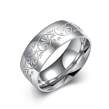 Férfi Band Ring / Nyilatkozat gyűrű / Gyűrű - Ezüstözött Bojt, Bohém, Punk 7 / 8 / 9 Fehér / Fehér Kompatibilitás Esküvő / Parti / Napi