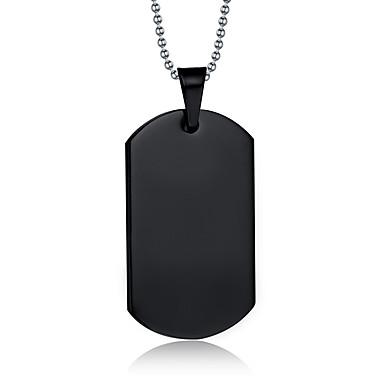 billige Vedhæng-Herre Halskædevedhæng Vedhæng Titanium Stål Sort Halskæder Smykker Til Daglig Afslappet