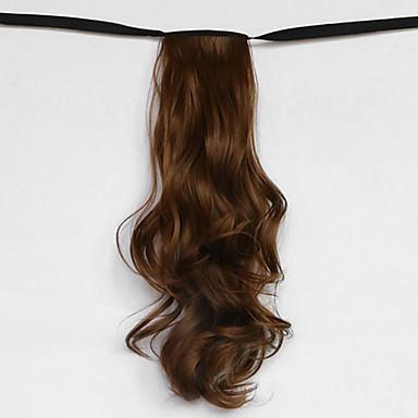물 파도 갈색 합성 붕대 형 머리 가발 포니 테일 (색상 12)