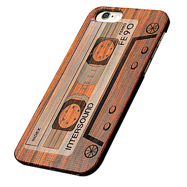 Mert iPhone 5 tok tokok Dombornyomott Hátlap Case Fa mintázat Kemény Fa mert Apple iPhone SE/5s iPhone 5