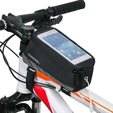 ROSWHEEL 자전거 프레임 백 휴대 전화 가방 4.8 인치 방수 방수 지퍼 착용 가능한 충격방지 터치 스크린 싸이클링 용 Iphone 8 / 7 / 6S / 6
