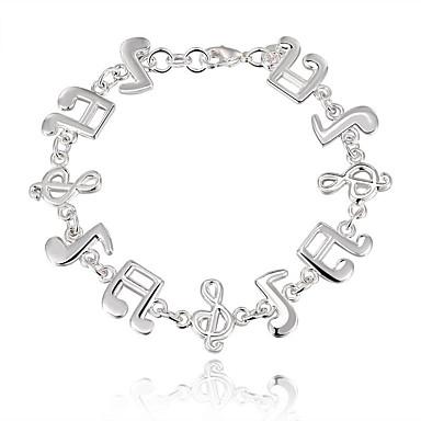Karkötők Silver Bracelets Ezüstözött Divat Esküvő / Parti / Napi / Hétköznapi Ékszerek Ajándék Ezüst,1db