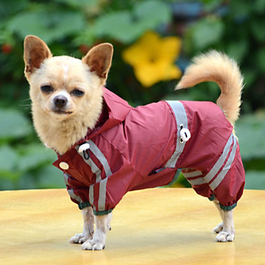 cheap Dog Clothing & Accessories-Dog Raincoat Dog Clothes Solid Colored Yellow Red Green Acrylic Fibers Costume For Bulldog Shiba Inu Pug Spring &  Fall Summer Men's Women's Waterproof Windproof