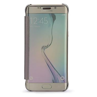Για Samsung Galaxy Θήκη με παράθυρο / Καθρέφτης / Ανοιγόμενη / Διαφανής tok Πλήρης κάλυψη tok Μονόχρωμη PC Samsung S6 edge