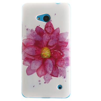 Mert Nokia tok Minta Case Hátlap Case Virág Puha TPU Nokia Nokia Lumia 630 / Nokia Lumia 530