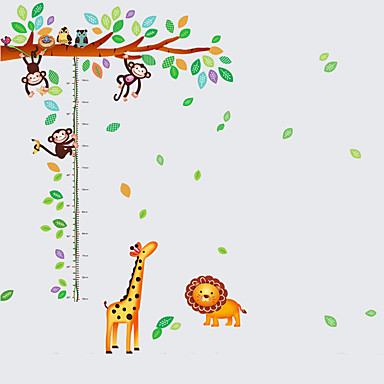 애니멀 / 보태니컬 / 카툰 / 정물화 / 패션 / 레져 벽 스티커 플레인 월스티커 데코레이티브 월 스티커 / 하이트 스티커,PVC 자료 이동가능 홈 장식 벽 데칼
